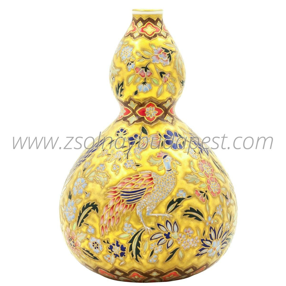 Limited edition Peacock Golden Age Vase 08/50