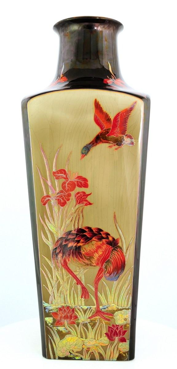 Multi Color Eosin Heron vase Limited edition x/100
