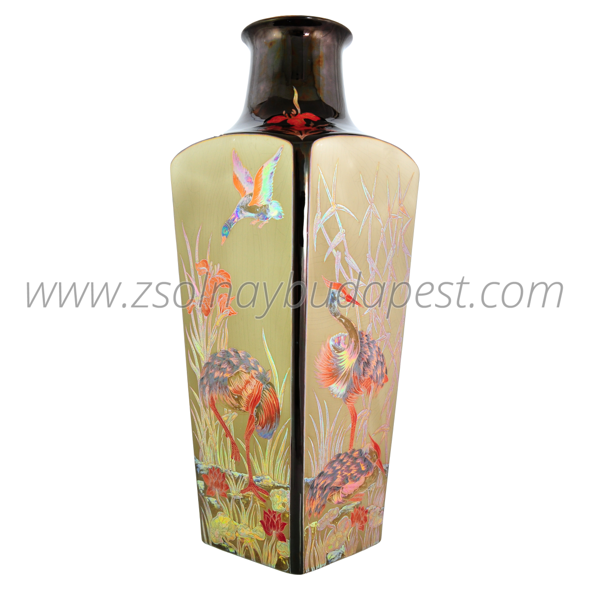 Multi Color Eosin Heron vase Limited edition x/100